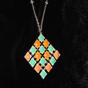 Jewelry - Vintage 1970s Necklace with Large Pendant